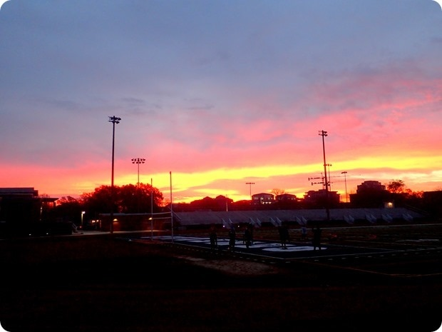 washington lee high school track sunrise