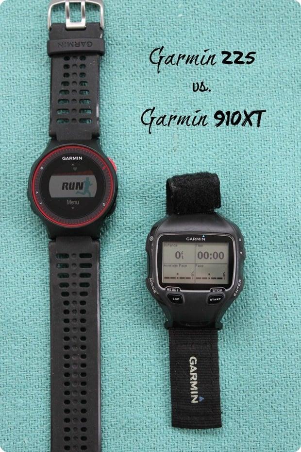 garmin 225 vs. garmin 910xt