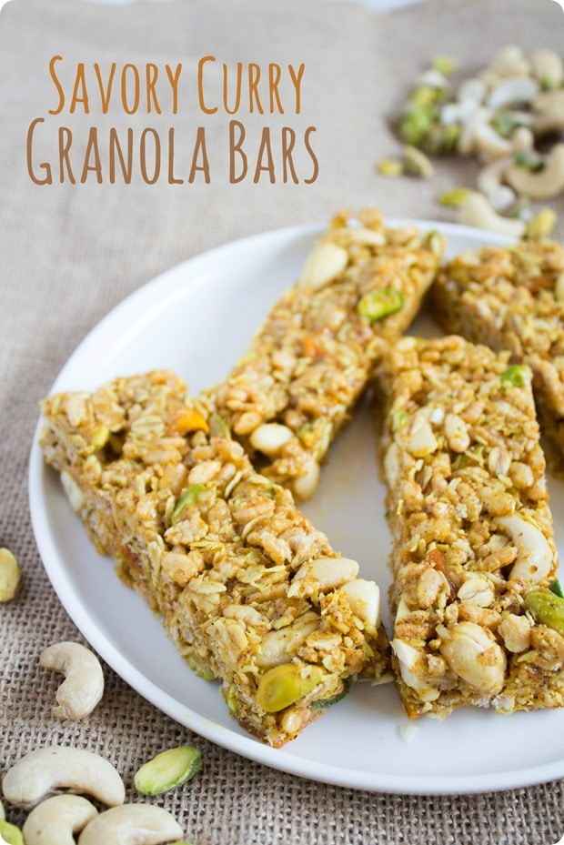 no bake Puffed Rice Granola Bars with Curry