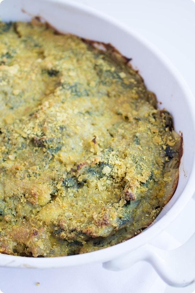 vegan kale artichoke dip 4