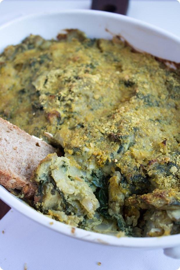 vegan kale artichoke dip 6