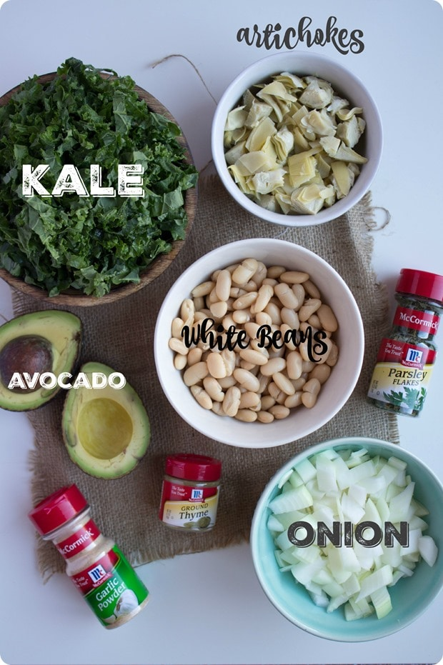 vegan kale artichoke dip ingredients
