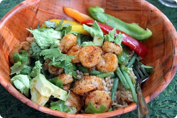 easy healthy mexican shrimp bowl