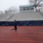 Back in DC: Soggy Track Workout