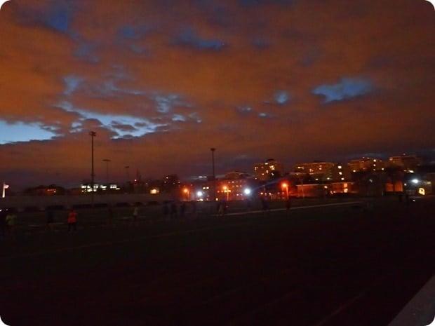 washington lee track sunrise