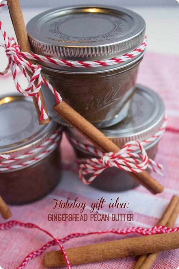 gingerbread pecan butter gift idea