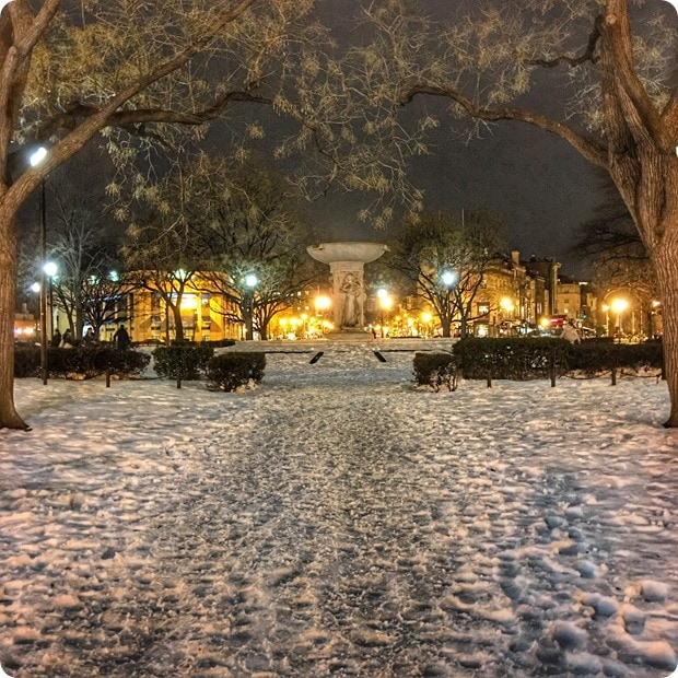 dupont circle night snow