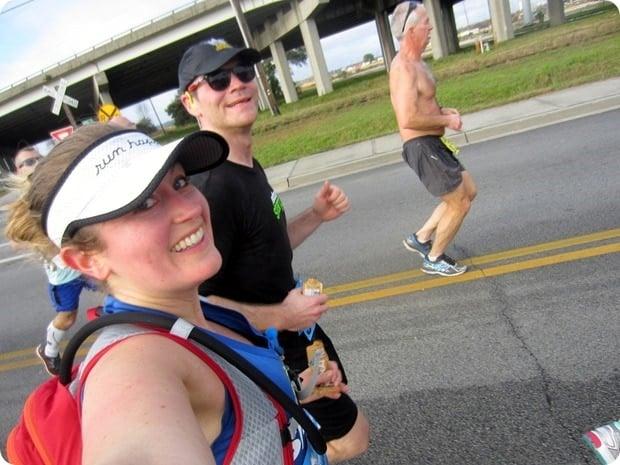 charleston half marathon selfie
