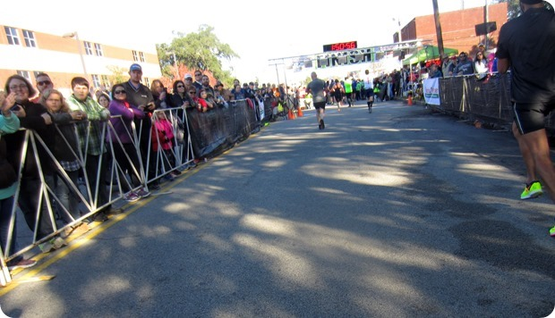 charleston half marathon finish line
