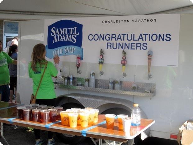 charleston marathon post race beer