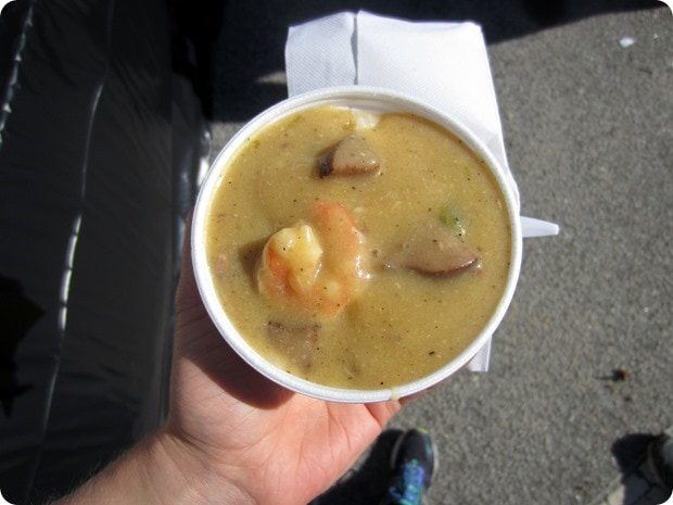 charleston half marathon shrimp and grits