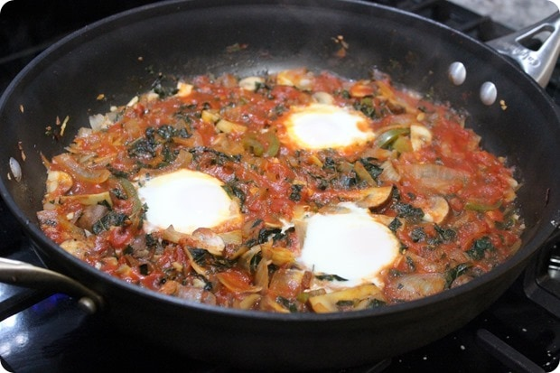 baked eggs cacciatore style