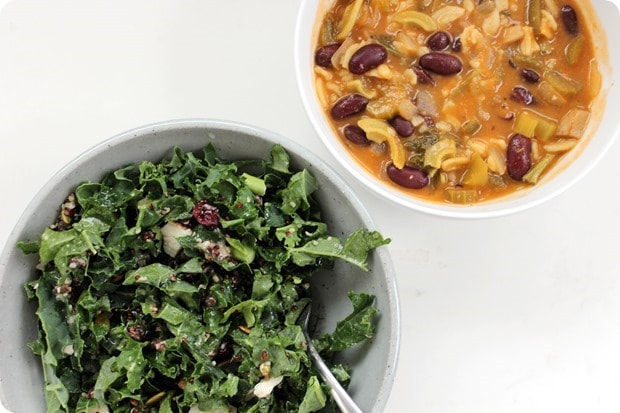 soup and salad healthy lunch