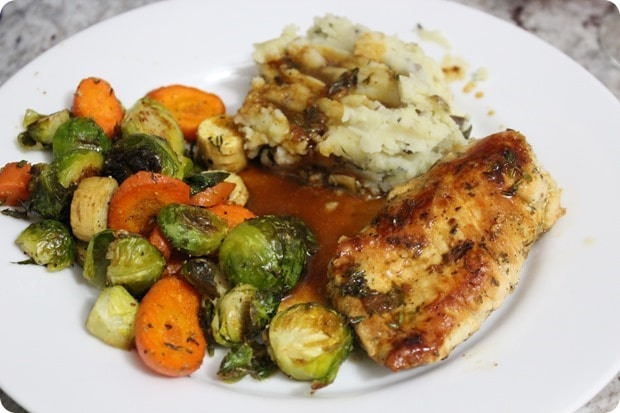 chicken roasted veggies mashed potatoes