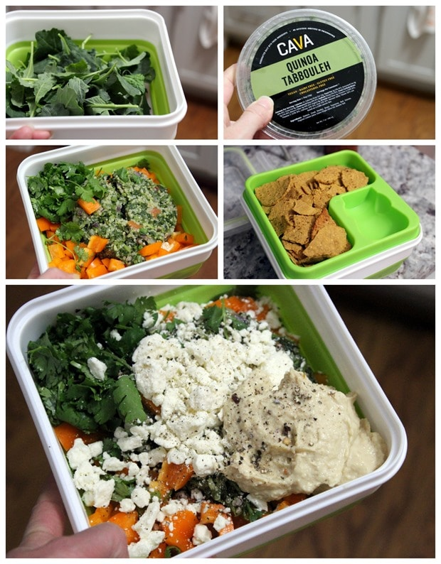 fast easy vegetarian packed lunch