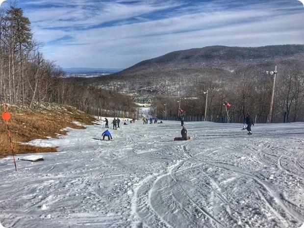 skiing at whitetail resort