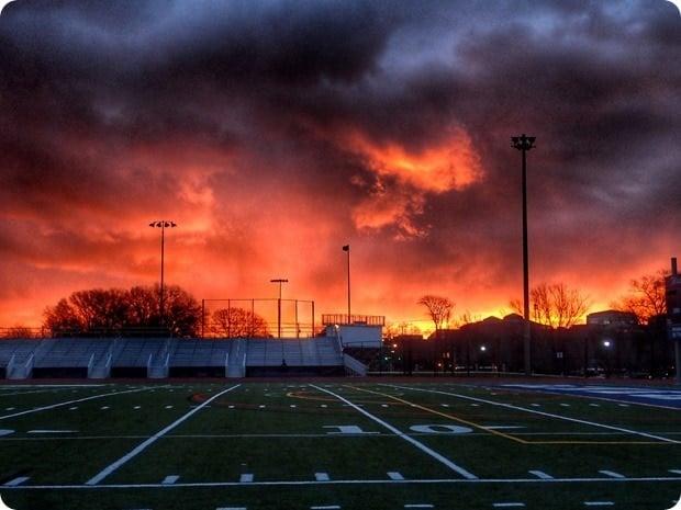 track workout sunrise