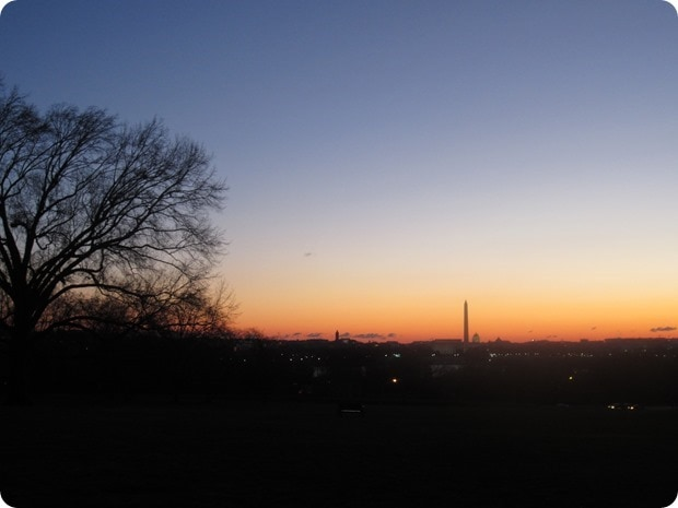 running dc at sunrise