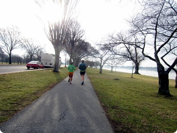 running on hains point