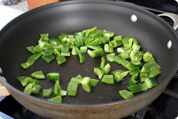 how to saute green pepper