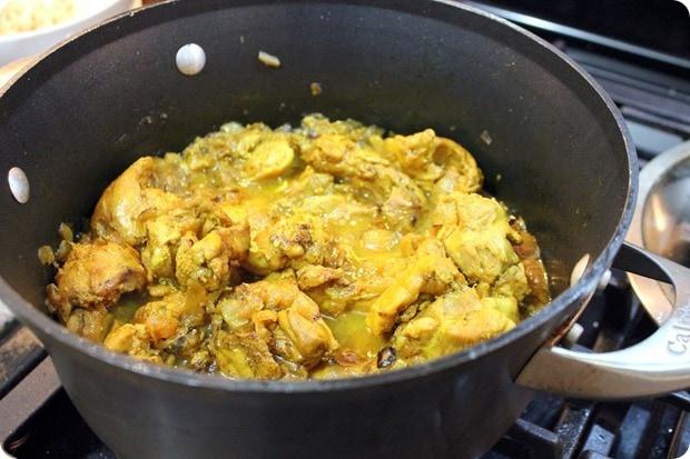 afghan braised chicken with yogurt