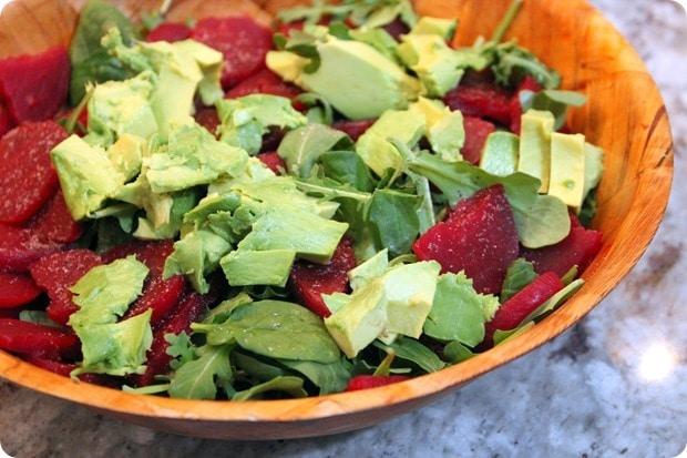 easy beet arugula salad