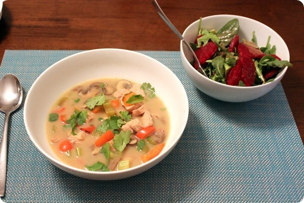 easy soup and salad dinner for guests