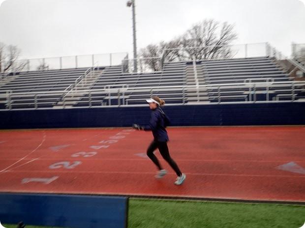 rainy track workout