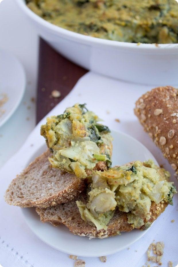 vegan kale artichoke dip 5