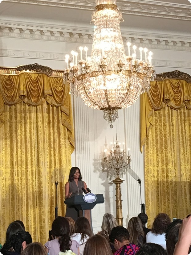 first lady speaking about lets move