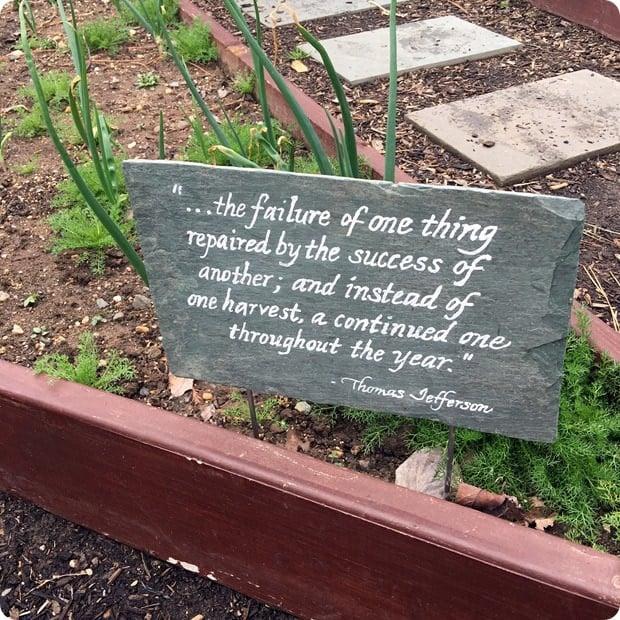 white house vegetable garden