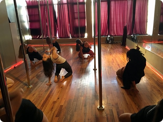 pole dancing fitness class nyc