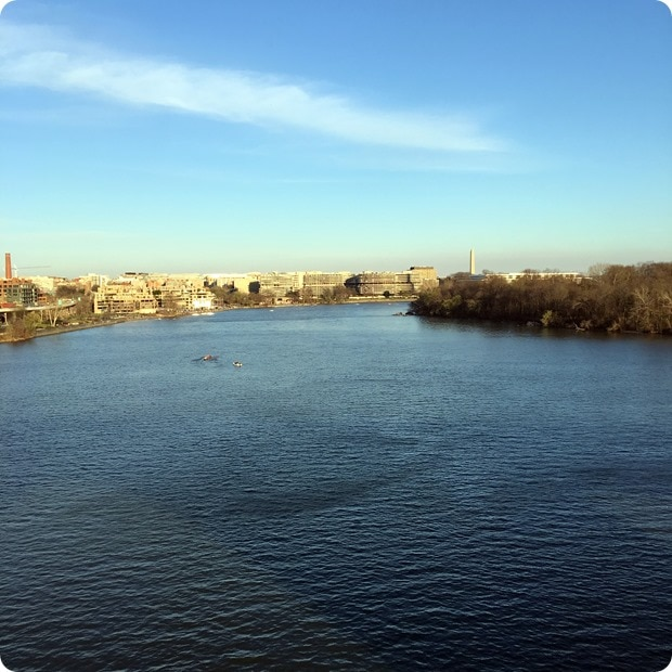 view from the key bridge dc