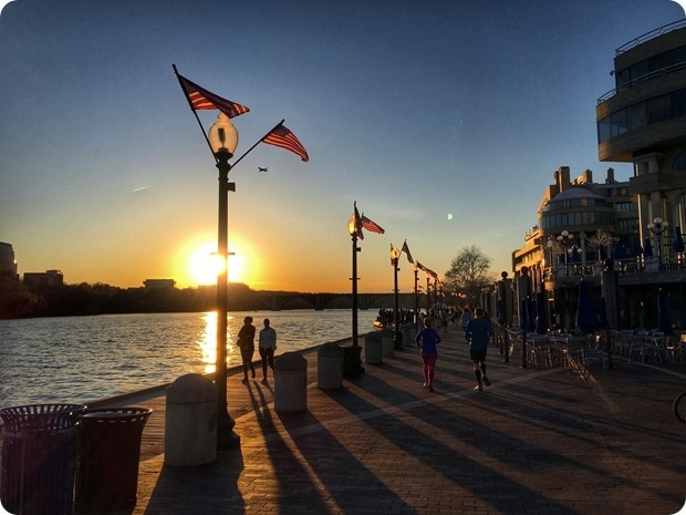 georgetown waterfront sunset