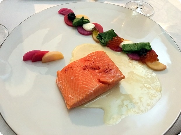 beeswax poached salmon
