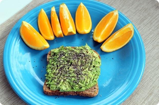 avocado toast with chia seeds