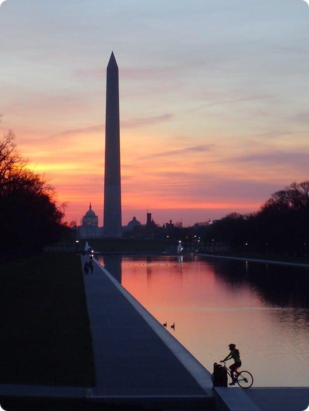 reflecting pool dc sunrise