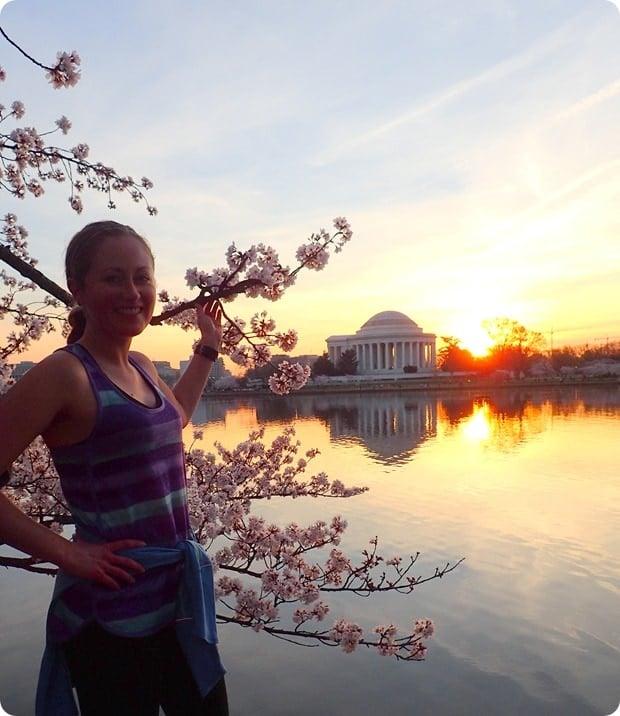 cherry blossom runner
