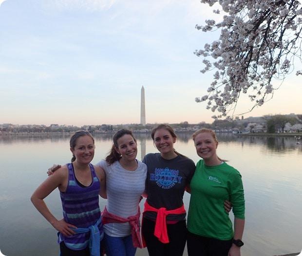 running the cherry blossom tidal basin