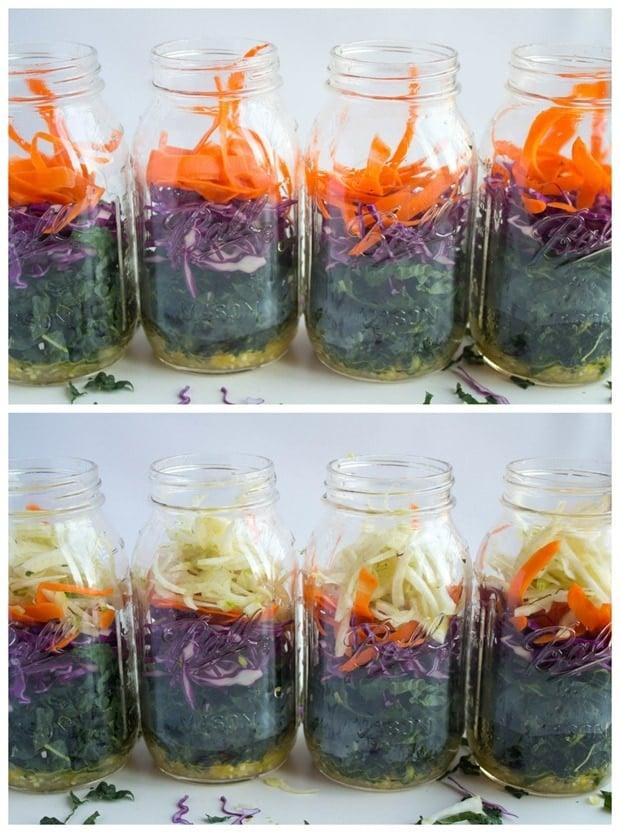 how to make a mason jar layered salad