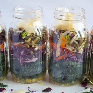 Mason Jar Tuscan Kale Salad