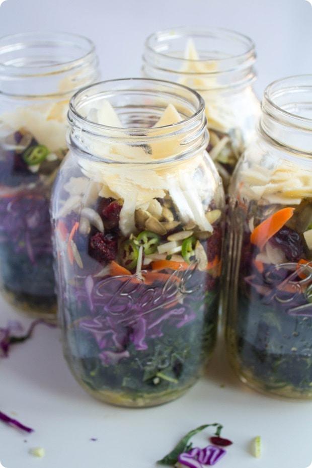 mason jar kale salad 4