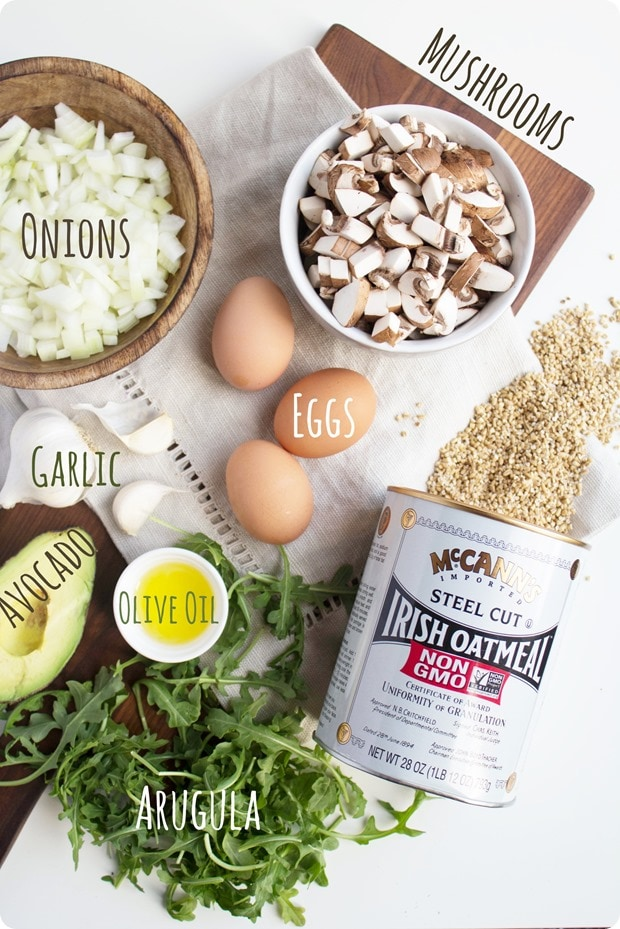 savory oatmeal ingredients