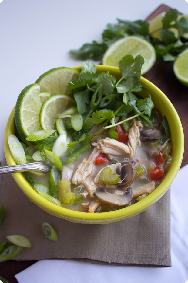 thai coconut chicken soup 1