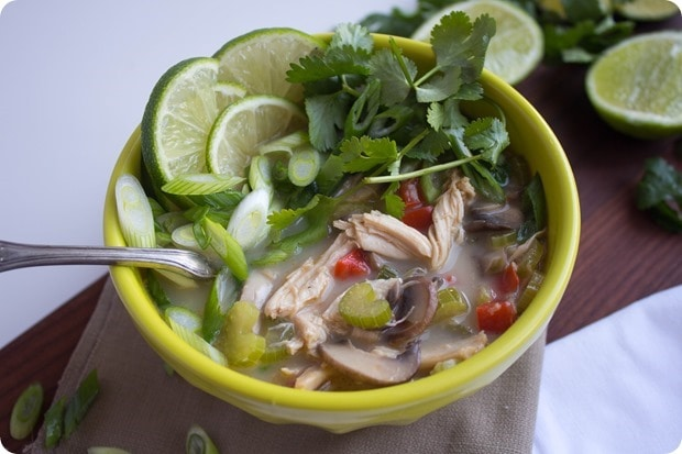 thai coconut chicken soup 2