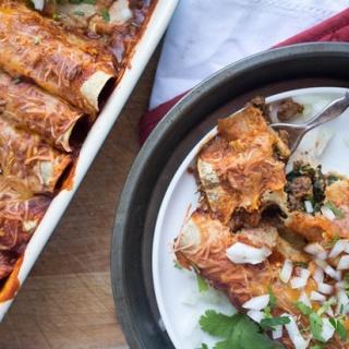 Walnut Mushroom Vegetarian Enchiladas