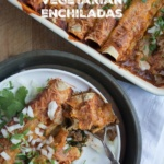 Walnut and Mushroom Vegetarian Enchiladas