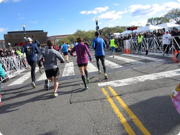 cherry bossom 10 miler finish line