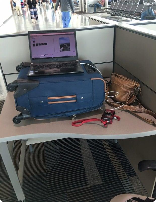 airport standing desk