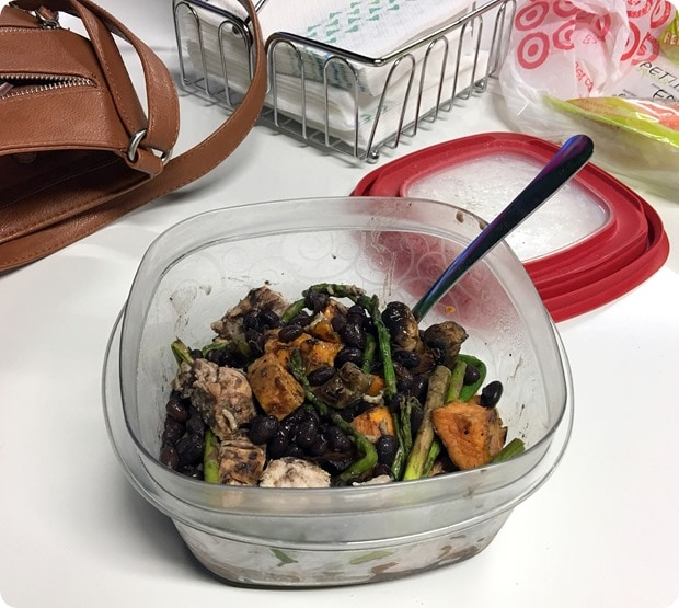 easy office packed lunch